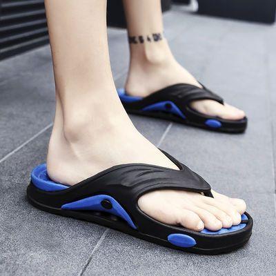夏厚底泡沫夹脚拖鞋男轻便旅游亮色人字拖潮流宝石沙滩鞋低价凉鞋
