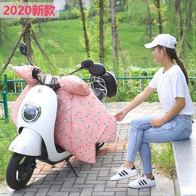 电动车摩托车挡风被秋冬季女士加绒加厚防风罩电动二三轮车挡风罩