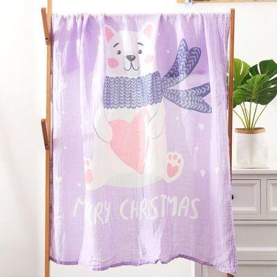 婴儿浴巾竹纤维双层纱布超柔吸水儿童夏季婴幼儿初生宝宝冰丝盖毯