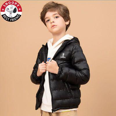 史努比儿童轻薄羽绒服短款男童女童中大童小童宝宝反季童装外套