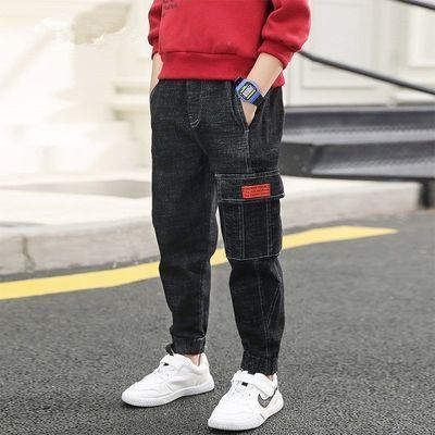 韩版春秋款男童休闲单裤牛仔裤4五6七岁男孩长裤子儿童宽松牛仔裤