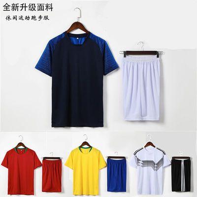 运动服男套装夏季健身球服户外运动短袖五分裤速干篮球足球训练