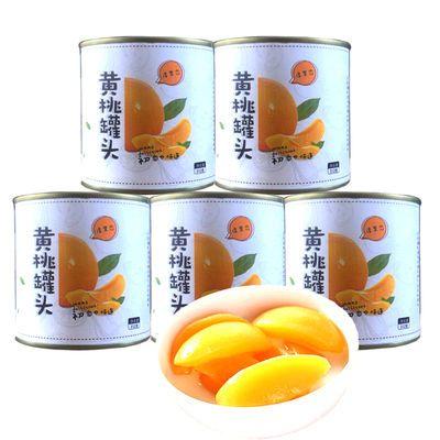 淳果恋黄桃罐头312g*5 新鲜应季糖水食品 柠檬味水果捞果肉零食