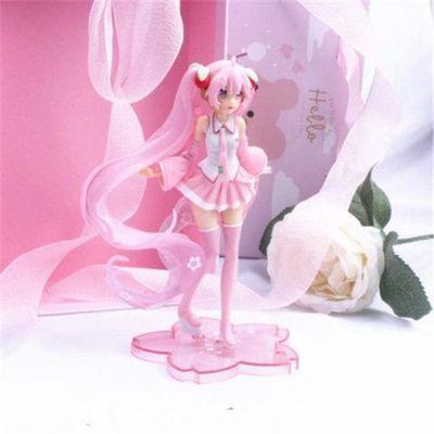 初音未来长发手办粉色少女公主玩偶模型蛋糕装饰动漫摆件车载玩具