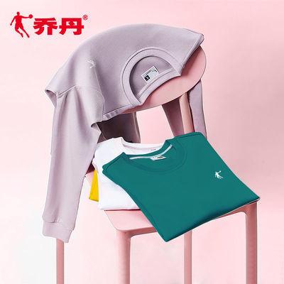 乔丹运动卫衣女2021春季新款情侣卫衣女士套头衫潮流长袖T恤女