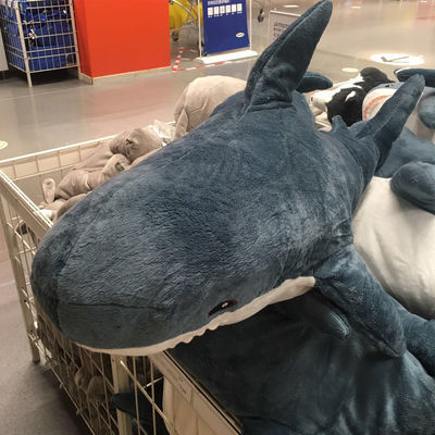 王源同款宜家IKEA大鲨鱼抱枕公仔毛绒玩具玩偶可爱娃娃生日礼物女