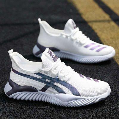 2020新款飞织男鞋透气网面休闲鞋男透气运动跑步鞋椰子鞋