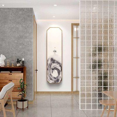 水生香 新中式禅意水墨装饰画竖长条玄关走廊尽头挂画 日式原木风