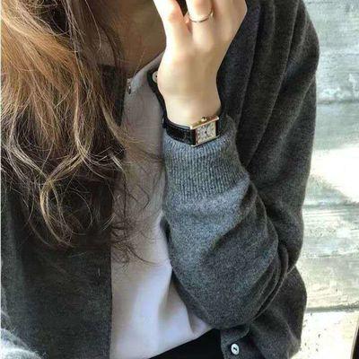 灰色毛衣外套女2020春季韩版温柔法式慵懒风毛衣针织开衫上衣外穿