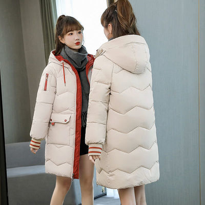 羽绒棉服女2020冬季韩版新款气质宽松加厚中长款棉衣棉袄外套女