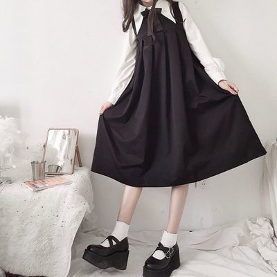 夏季女装日系少女软妹复古学院风甜美减龄背心百褶裙闺蜜装连衣裙