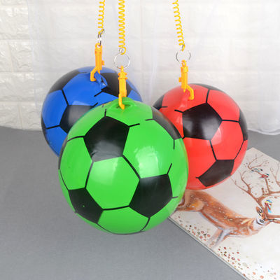 儿童链子足球带拉绳卡通吊环皮球儿童充气玩具拍拍球学生室外运动