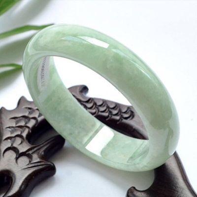 天然正品玉镯翡翠色玉手镯女款玉石玉器浅绿玉镯子特价包邮