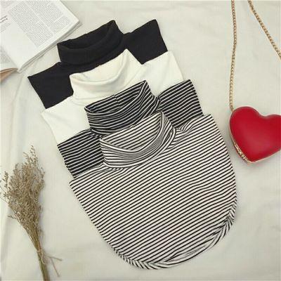 纯棉高领条纹假领女冬季新款百搭打底内搭学生假领假两件堆堆领子