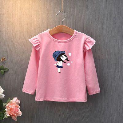 女童秋装长袖T恤衫儿童2-6岁娃娃领秋款2020宝宝秋薄款上衣打底衫