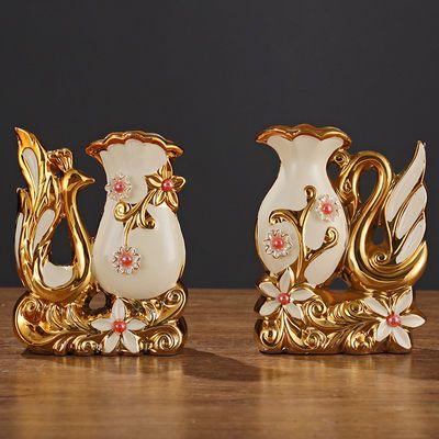 爆款北欧风格陶瓷花瓶摆件客厅插花束餐桌花器欧式创意家居酒柜装