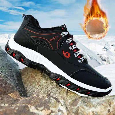 棉鞋男士户外鞋子2020秋冬季新款登山鞋防滑低帮鞋休闲运动跑步鞋