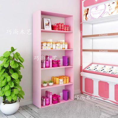 化妆品展示柜美容院产品展柜陈列柜理发店货架护肤品美甲展柜定做
