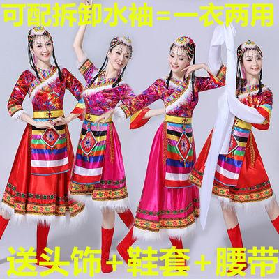 少数民族服饰藏族演出服水袖舞蹈表演藏式衣服藏族服装男女舞蹈服