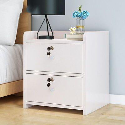 简易床头柜简约现代卧室床头收纳柜床边带锁储物柜经济型特价包邮