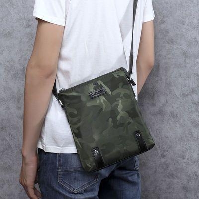 男士斜挎包男帆布新款韩版时尚单肩包潮男士包包防水牛津布手包男
