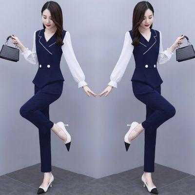 套装女洋气两件套2020新款时尚小西装显高秋季职业装气质女神范潮
