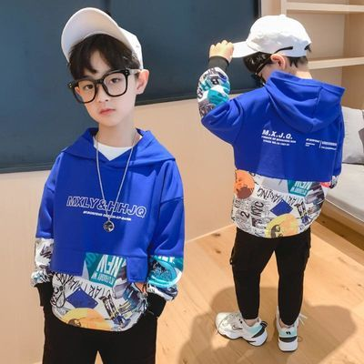 童装男童卫衣春秋潮款2020新款儿童长袖上衣洋气男孩中大童打底衫