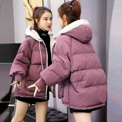 2020新款冬季外套羽绒棉服女短款棉袄新款韩版宽松学生面包服棉衣