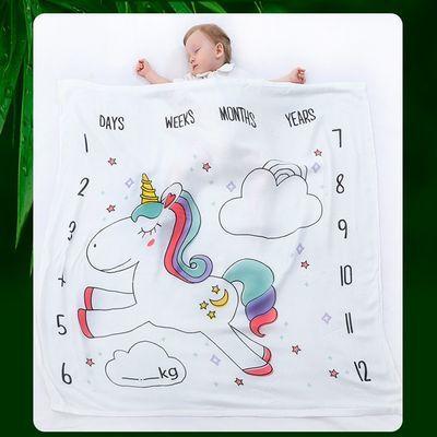 竹纤维冰丝盖毯新生儿包被夏季薄款包巾宝宝空调被子浴巾柔软推车