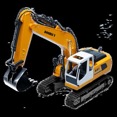 双鹰遥控挖掘机小孩工程车挖土机合金充电儿童无线电动男孩大玩具