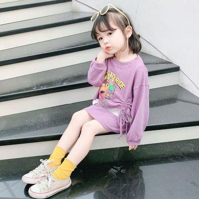 女宝宝卡通三件套2020春秋韩版时髦秋装1-4岁5中小童时尚卫衣套装