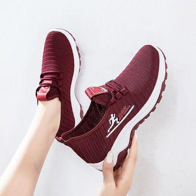 新款老北京布鞋女防滑健步鞋耐磨妈妈鞋一脚蹬女鞋透舒适气加底片