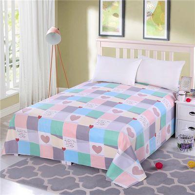 全棉加厚老粗布床单三件套帆布床单夏季凉席不起球不掉色