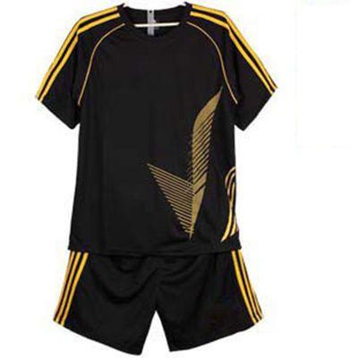 光板成人儿童足球服套装短袖足球队服中小学生足球训练服比赛球衣