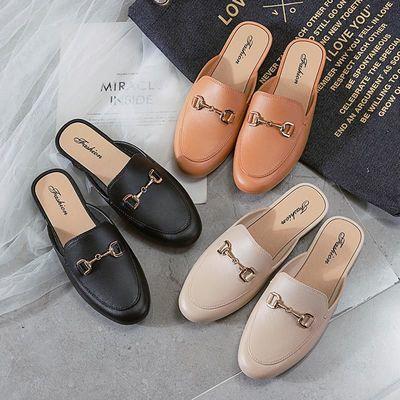 凉拖鞋女夏季百搭新款洋气外穿新款网红韩版时尚防滑包头半拖凉鞋