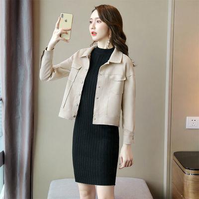 TONSON 2020年秋冬季时尚休闲外套女新款韩版宽松bf风夹克