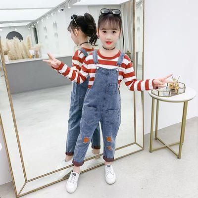 8女童秋装网红套装女大童洋气背带裤12岁14女孩13秋季9时髦衣服15