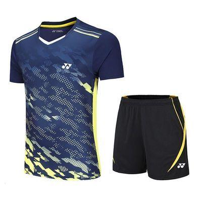 新款羽毛球服套装男女款短袖运动服吸汗透气速干乒乓球团购比赛服