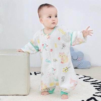 21550/婴儿纱布分腿睡袋纯棉春秋冬季宝宝睡袋防踢被春夏季婴儿被子