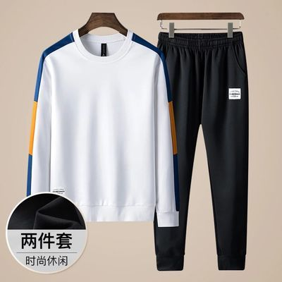秋季新款运动套装男学生韩版潮流卫衣青少年帅气精神小伙一套衣服