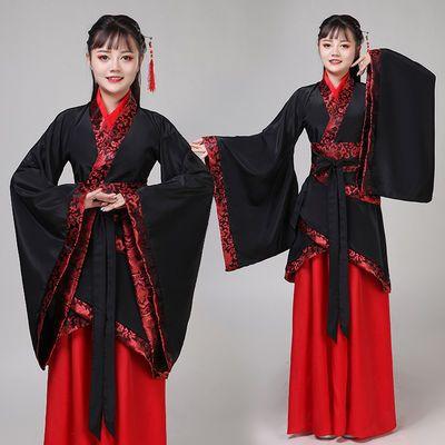 璇玑礼仪之邦古装舞蹈演出服装红女改良广袖舞台重回汉唐宋秦汉服