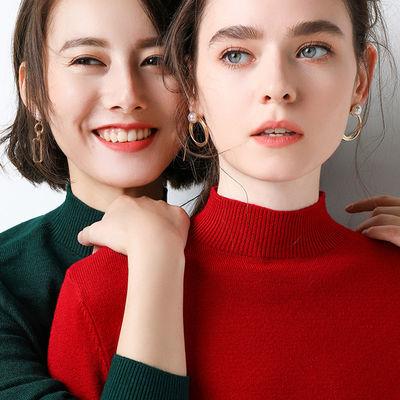 加靓半高领毛衣女长袖2021年春夏新款韩版百搭修身显瘦弹力打底衫