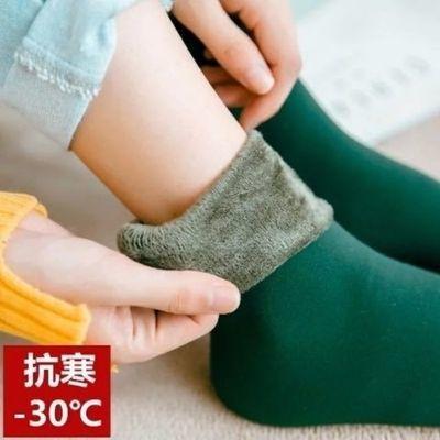 袜子女雪地袜地板袜秋冬款加绒加厚保暖雪地袜居家男女通穿袜子潮
