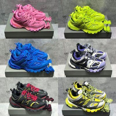 巴黎三代潮鞋老爹鞋Track3.0复古男女同款LED灯休闲鞋小Ck运动鞋