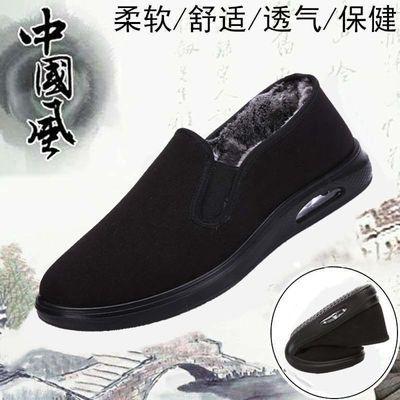 正品传统老北京布鞋春秋单鞋棉鞋黑色中老年爸爸鞋软底防滑一脚蹬