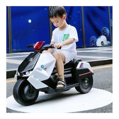 小嘎子幻影儿童电动摩托车三轮车男女童车宝宝可坐人玩具车可遥控