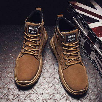 英伦风马丁靴加绒棉鞋保暖男士高帮冬季防滑军鞋子潮流雪地靴子
