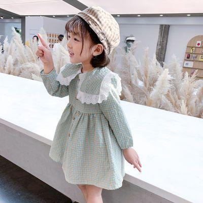 女童连衣裙秋装长袖格子长裙儿童洋气公主裙宝宝小童春秋季裙子4