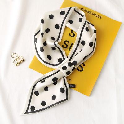 【超美的小丝巾】韩国时尚百搭护颈小领巾女长条丝巾发带春夏围脖