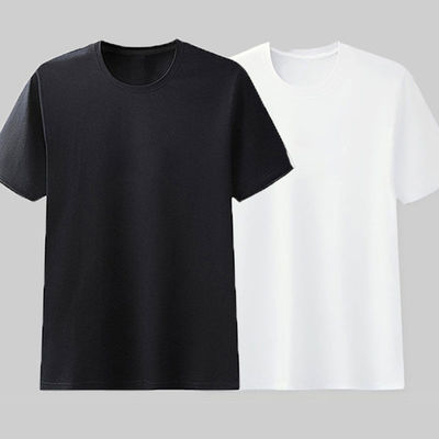 100%纯棉T恤男短袖上衣夏季男士宽松半袖体恤打底衫中青年男装t恤